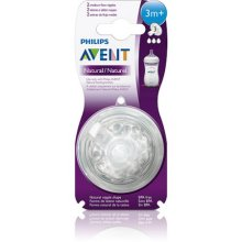 Philips AVENT Natural Medium Flow 3m  Nipple, 2pk