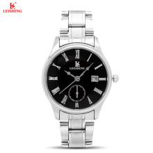 Leisheng 31-935 Business Stainless Steel Quartz Watch for Women (Silver/Black)