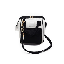 Anello 3 Way 2-Tone Handbag (White/Back)-Small
