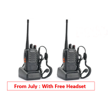 2PCS Baofeng BF-888S Portable Two-Way Radio (Black)with FREE (headset)