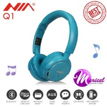 Nia Q1 4in1 Superb Sound Bluetooth Headset with FM Radio, MicroSD and AUX Slot