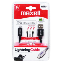 Maxell Braided Apple USB Cable 6FT