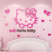 Hello Kitty 3D Wallpaper Stick On Wallpaper