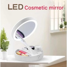 LED cosmetic mirror rotary cosmetics storage free USB Data line