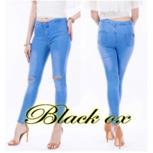 #848?Knee Ripped Joni Jeans High Waist